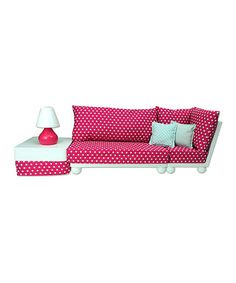 Doll Loveseat Sofa Sectional Set for 18'' Doll #zulily #zulilyfinds