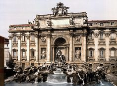 Trevi Fountain.  Rome circa 1890