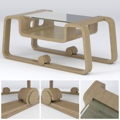 Modelagem de móvel - Mesa de centro / Mobile modeling - Coffee Table