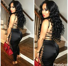 wet and wavy hair bundles Black Girl Fashion, Look Fashion, Fashion Ideas, Remy Human Hair, Human Hair Wigs, Remy Hair, Black Girls Hairstyles, Wig Hairstyles, Lace Front Wigs