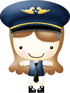 Brown haired airline pilot