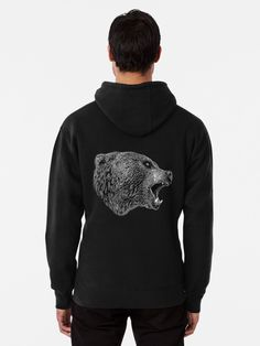 🖤 #hjorleifsonart #bear #hoodie #hoodieseason #bearart #icelandic #artist #artwork #wildlife