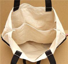 big Kutusita Nyanko cat canvas linen bag 4