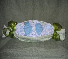 Peas in a Pod Diaper Cake for Baby Shower by CushyCreations, $24.99