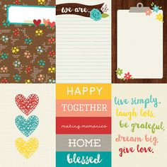 4x6 Vertical Journaling Card Elements | Simple Stories