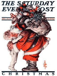 Norman Rockwell/A Very Vintage Christmas Images Noêl Vintages, Images Vintage, Vintage Christmas Images, Vintage Holiday, Christmas Pictures, Santa Pictures, Vintage Cards, Noel Christmas, Father Christmas