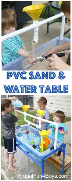 How to Build a PVC Pipe Sand and Water Table -- Frugal fun 4 http://boys.com