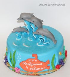 """Торт """"Дельфины"""""""