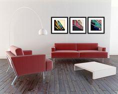 Chicago Photography- Home Decor- Wall Art- Chicago Art- Urban Decor, Office Decor, Retro Modern Art, Vintage Neon- The Uptown Series Urban Home Decor, Home Decor Wall Art, Vintage Camera Decor, Green House Design, Vintage Neon Signs, Chicago Photography, Beautiful Living Rooms, Chicago Art, House Styles