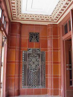 Will Rogers High School, art deco ironwork and terracotta Tulsa, Oklahoma.