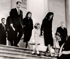 The Kennedy family leave the funeral of John F. Kennedy in 1963.