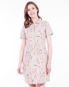 Brakeburn SS17 Bird Blossom Shirt Dress