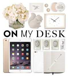 """""""Untitled #157"""" by mydntkrl ❤ liked on Polyvore featuring interior, interiors, interior design, home, home decor, interior decorating, Shinola, Diptyque, Paper Mate and Montblanc"""