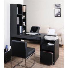 Enitial Lab YNJ-227-1 Ruben Home/Office Desk with Bookshelf