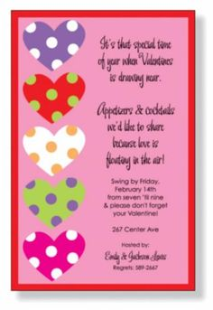 ValentineS Day Party Invitation  Dinner With People We Love