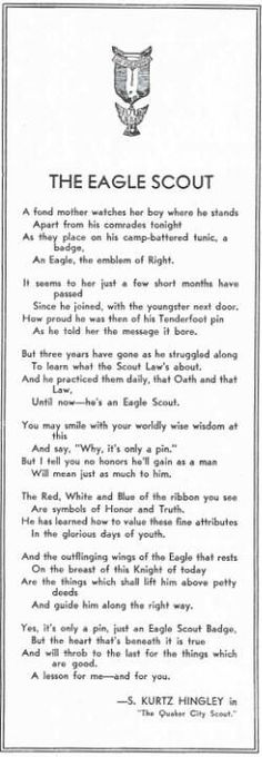The Eagle scout poem