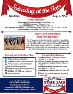 2014 Indiana State Fair Day #2 Schedule