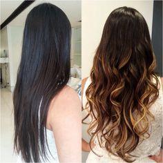 Ombre Hair! Antes e depois