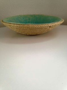 Bowl with rope and turqoise craquelé by DMP Design