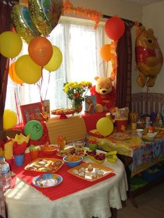 Winnie the Pooh and Friends Birthday Party Ideas Second Birthday Ideas, Baby Boy First Birthday, 1st Boy Birthday, Friend Birthday, 1st Birthday Parties, Diy Birthday, Winnie The Pooh Decor, Winnie The Pooh Birthday, Kids Party Themes