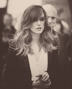 Keira Knightley. Chanel. Love her hair.