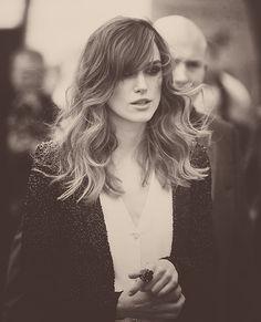Keira Knightley. Chanel. Love her hair.