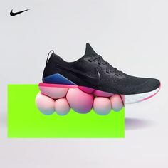 The new Epic React Flyknit 2 is here. Get instant GO for your springiest, bounciest, most comfortable… Sneakers Fashion, Fashion Shoes, Futuristic Shoes, Shoe Advertising, Nike Ad, Nike Shoes, Sneakers Nike, Shoes Ads, 3d Video