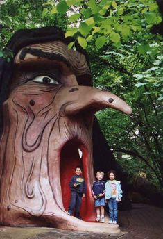 The Witchs Head at The Enchanted Forest, a retro kids amusement park in Salem, Oregon on I5. Classic Roadside America!