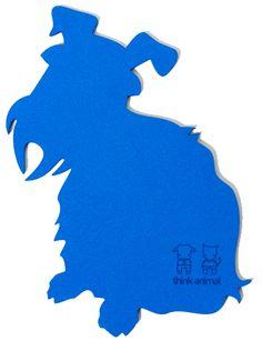 Schnauzie pad (originally in laser cut foam, great for leather or even a plastic board)