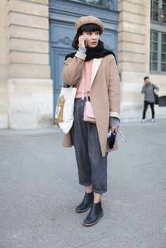 Paris FW fall 2014. Часть 2 (большая подборка) / Street Style /