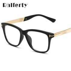 f839236438 Ralferty Fashion Square Glasses Women Men Eyeglasses Frame With Clear Lens  Vintage Optic Myopia Frames Brown Spectacles 2202