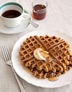 Pumpkin-Ginger Waffles  - CountryLiving.com