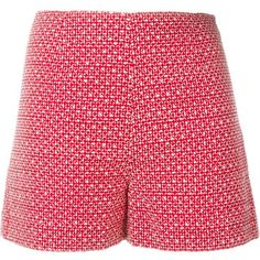 Vanessa Bruno Athé Embroidered Shorts ($246) ❤ liked on Polyvore featuring shorts, red, red shorts, vanessa bruno athé and embroidered shorts