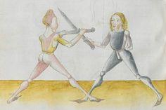 Lecküchner, Hans: Kunst des Messerfechtens Nordbayern, 1482 Cgm 582 Folio 280
