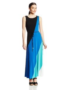 Sandra Darren Women's Petite Sleeveless Colorblock Self Tie Maxi Dress, Multi, 6 Sandra Darren,http://www.amazon.com/dp/B00I5LT3X6/ref=cm_sw_r_pi_dp_dM6stb0SZM1HZGKB