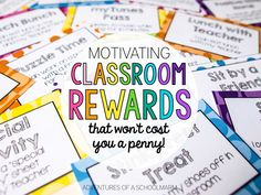 reward coupons. brainstorm a list of privileges that students would like to earn. Which ever class earns the most points each week/month, each student gets to pick a coupon. (or could use these to pass out randomly for good behavior)