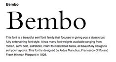 Bembo font Typeface Font, Fonts, Bold Italic, Bagan, Font Styles, Font Family, Serif, Graphics, Letters