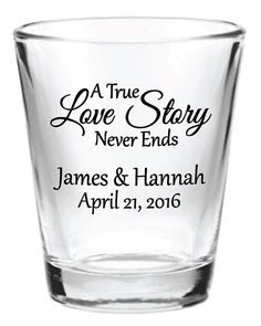 144 Personalized 1.5oz Wedding Favors Glass Shot by Factory21, $179.53