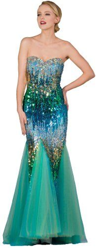 Meier Women's Strapless Sequin Mermaid Gown in Turquoise Meier,http://www.amazon.com/dp/B00B914NFC/ref=cm_sw_r_pi_dp_Vk8nsb0PFQQH4K1R.......this would be great for a mermaid costume!
