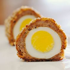 JULES FOOD...: Scotch Eggs...Not Scottish at all... But first produced by the London store Fortnum & Mason in 1851, they were originally wrapped in Scotch beef where they got their name from. Homemade Scotch Eggs are delicious, recipe here