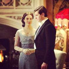 Sybil and Tom Lady Sybil, 1920s Looks, Jessica Brown Findlay, Downton Abbey Fashion, Lady Mary, Edwardian Era, Period Dramas, I Movie, Allen Leech