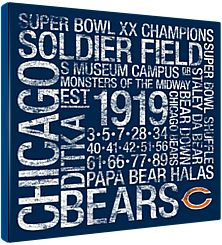 Chicago Bears Square Subway Art