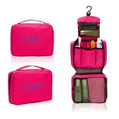 West Beauty Portable Travel Camping Hiking Toiletry Hanging MensLadies Makeup Cosmetics Wash Bag Case organizer Holder for Women Pink *** You can find out more details at the link of the image.