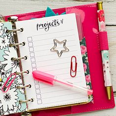 Pocket planner insert printable projects by HeatherGreenwoodShop