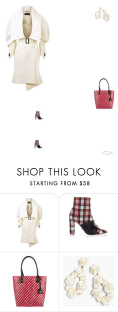 """""""Grace"""" by zoechengrace ❤ liked on Polyvore featuring Burberry, Oscar Tiye, Tory Burch and J.Crew"""