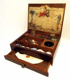 Antique artist's supplies : Artists watercolor paint boxes, watercolor paint blocks & paper