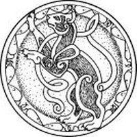 Celtic symbol for Cat Celtic Symbols, Celtic Art, Celtic Knots, Celtic Dragon, Celtic Patterns, Celtic Designs, Celtic Animals, Freya, Celtic Mythology