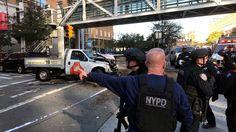 New York truck attack shuts down Manhattan financial district