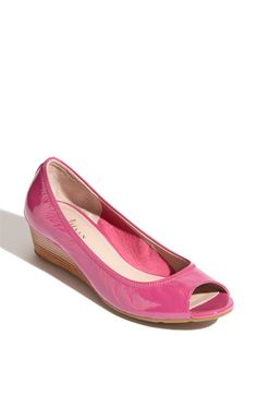 Cole Haan Air Tali Wedge in Beet Patent, Beet? What a weird name for a shoe color! Fab Shoes, Pink Shoes, Crazy Shoes, Me Too Shoes, Cole Haan Wedges, Work Pumps, Cole Haan Air, Pink Wedges, Most Comfortable Shoes