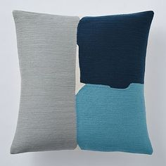 Steven Alan Abstract Crewel Pillow Cover – Blue Lagoon #westelm For eventual side chair living room